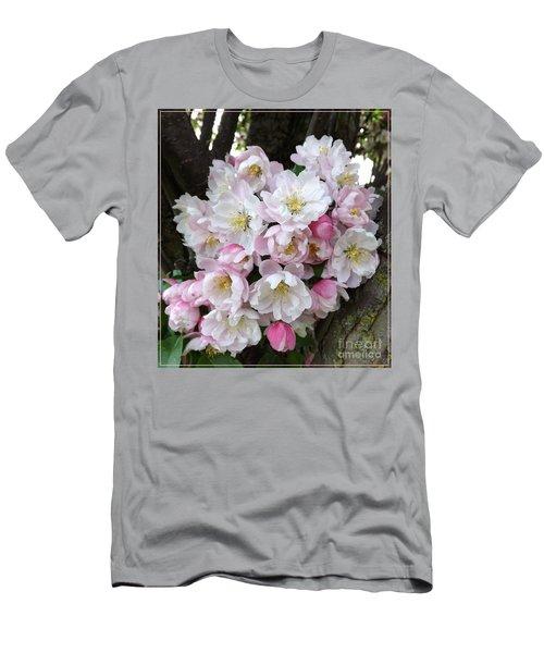 Crab Apple Blossoms Men's T-Shirt (Athletic Fit)