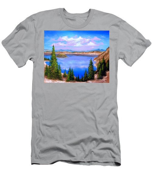 Crater Lake Oregon Men's T-Shirt (Athletic Fit)