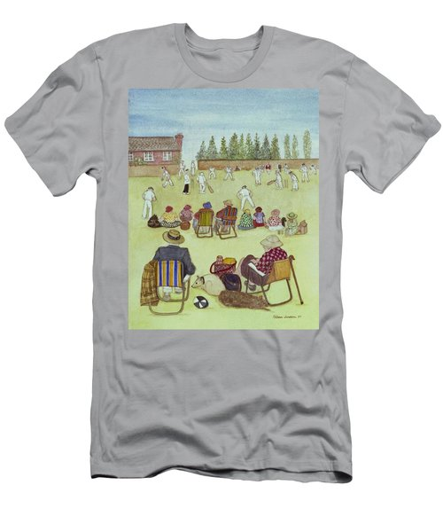 Cricket On The Green, 1987 Watercolour On Paper Men's T-Shirt (Athletic Fit)