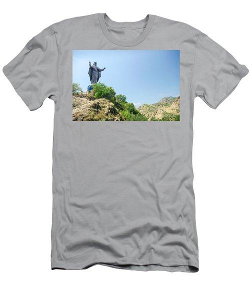 Cristo Rei Statue Near Dili East Timor Timor Leste Men's T-Shirt (Athletic Fit)