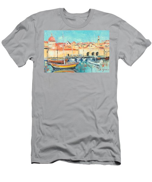Croatia - Dubrovnik Harbour Men's T-Shirt (Athletic Fit)
