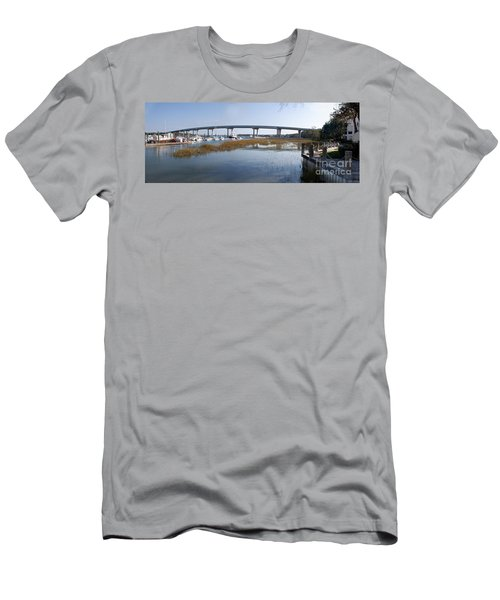 Cross Island Bridge Hilton Head Men's T-Shirt (Athletic Fit)