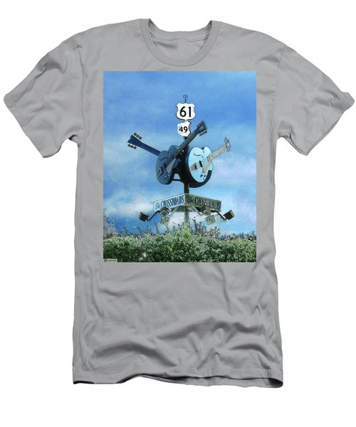 Men's T-Shirt (Slim Fit) featuring the photograph Crossroads In Clarksdale by Lizi Beard-Ward