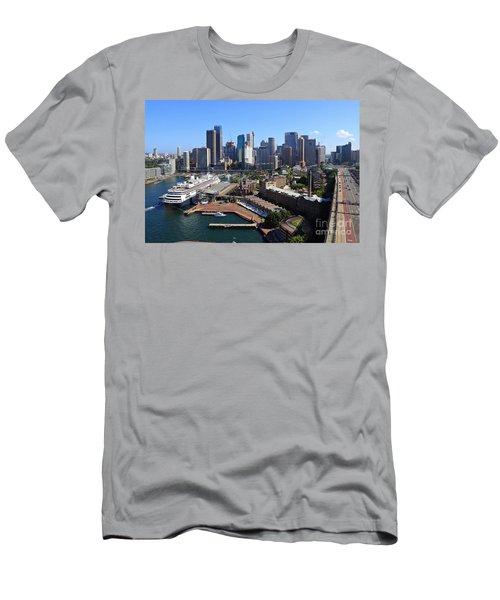 Cruiser Ship In Sydney Men's T-Shirt (Athletic Fit)