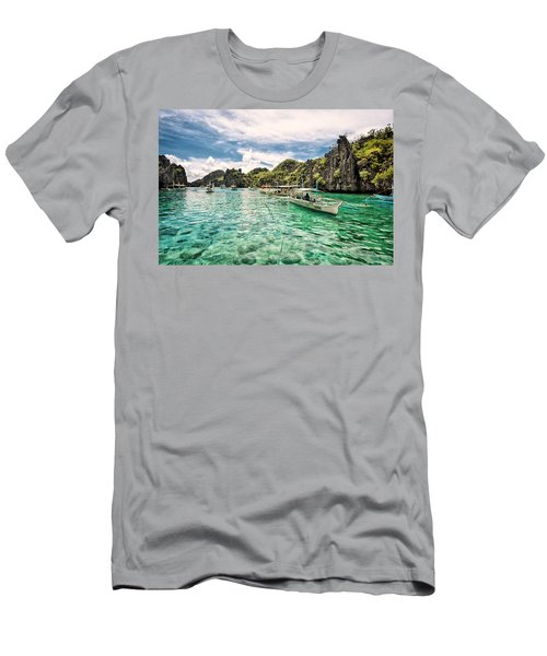 Crystal Water Fun Land Men's T-Shirt (Athletic Fit)