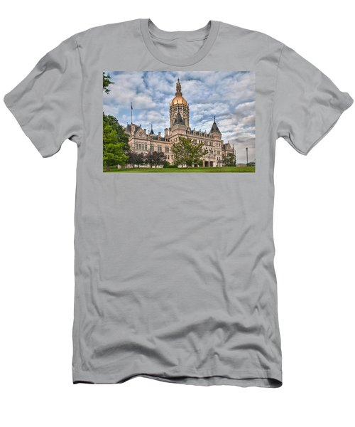 Ct State Capitol Building Men's T-Shirt (Slim Fit) by Guy Whiteley