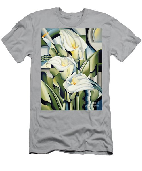 Cubist Lilies Men's T-Shirt (Athletic Fit)