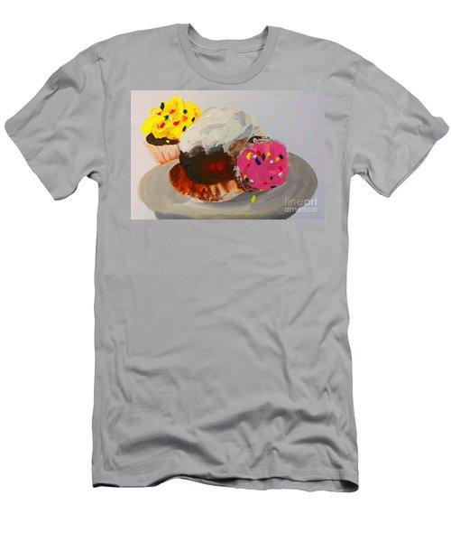 Cupcakes Men's T-Shirt (Slim Fit) by Marisela Mungia