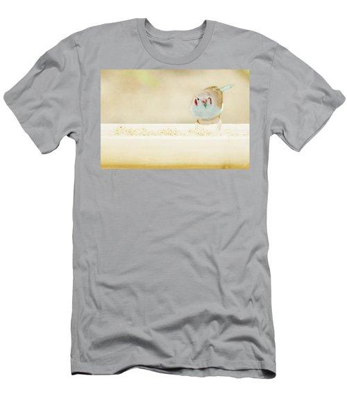 Curious Cordon Bleu Finch  Men's T-Shirt (Athletic Fit)