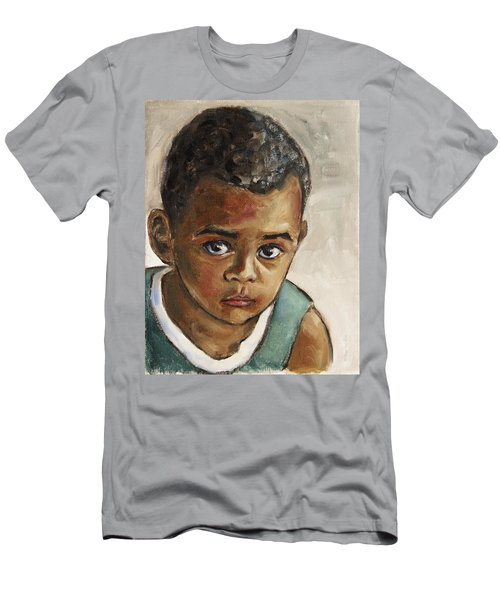 Curious Little Boy Men's T-Shirt (Athletic Fit)