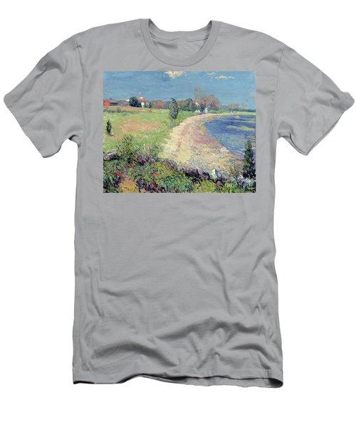 Curving Beach Men's T-Shirt (Athletic Fit)