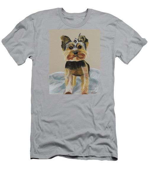 Cute Yorkie Men's T-Shirt (Athletic Fit)