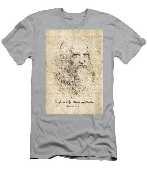Da Vinci Quote Men's T-Shirt (Athletic Fit)