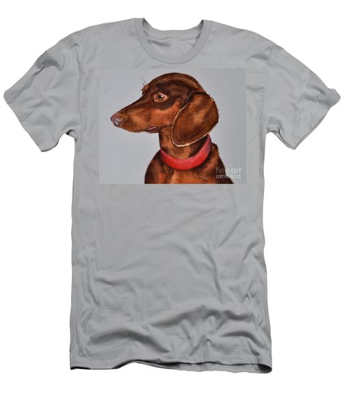 Dachshund Watercolor Painting Men's T-Shirt (Athletic Fit)