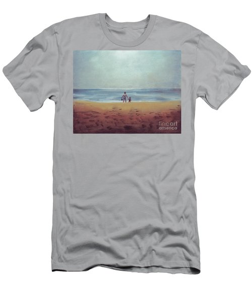 Daddy At The Beach Men's T-Shirt (Athletic Fit)