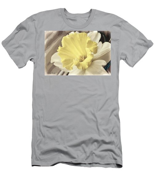Daffadil In Yellow And White Men's T-Shirt (Athletic Fit)