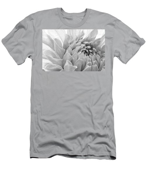 Dahlia Petals - Digital Pastel Art Work  Men's T-Shirt (Athletic Fit)