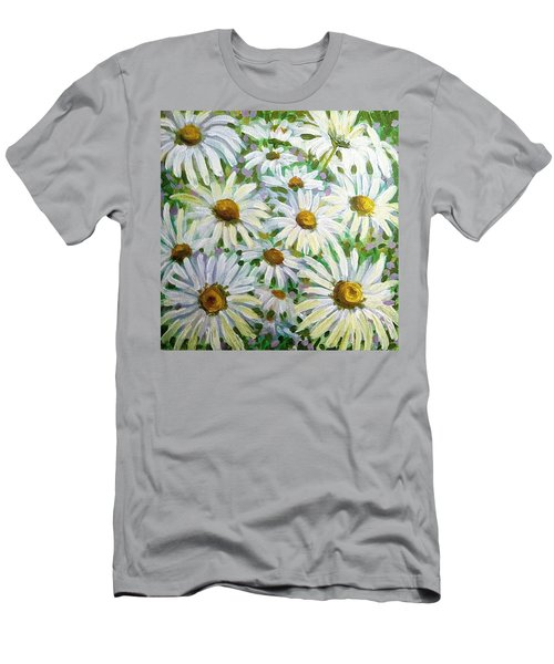 Daisies Men's T-Shirt (Slim Fit) by Jeanette Jarmon
