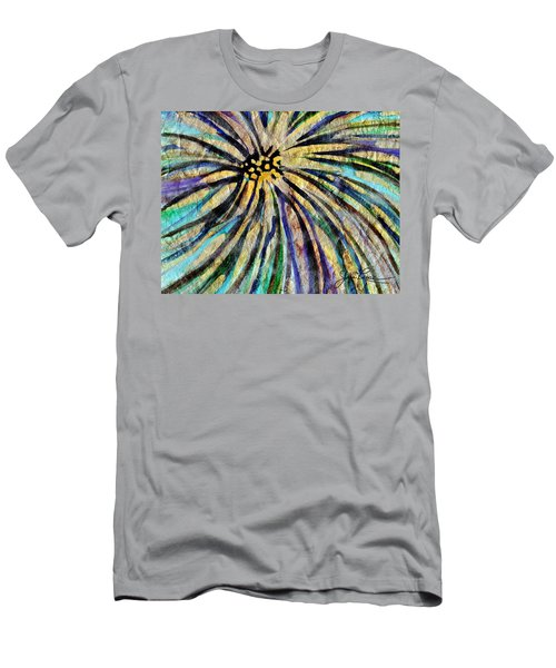 Men's T-Shirt (Athletic Fit) featuring the painting Daisy Blue by Joan Reese