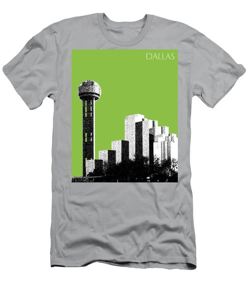 Dallas Skyline Reunion Tower - Olive Men's T-Shirt (Athletic Fit)