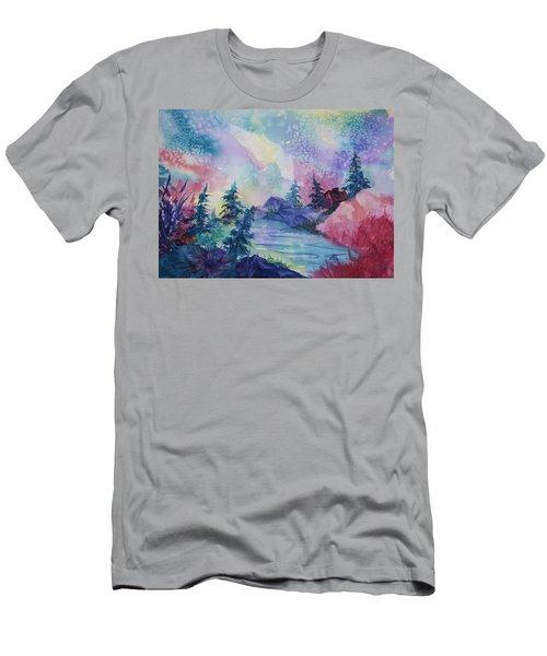 Dancing Lights II Men's T-Shirt (Slim Fit) by Ellen Levinson