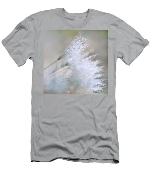 Men's T-Shirt (Slim Fit) featuring the photograph Dandelion Bling Bokeh by Peggy Collins
