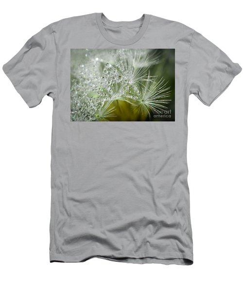 Dandelion Dew Men's T-Shirt (Slim Fit) by Amy Porter