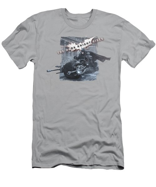 Dark Knight Rises - Batpod Breakout Men's T-Shirt (Athletic Fit)