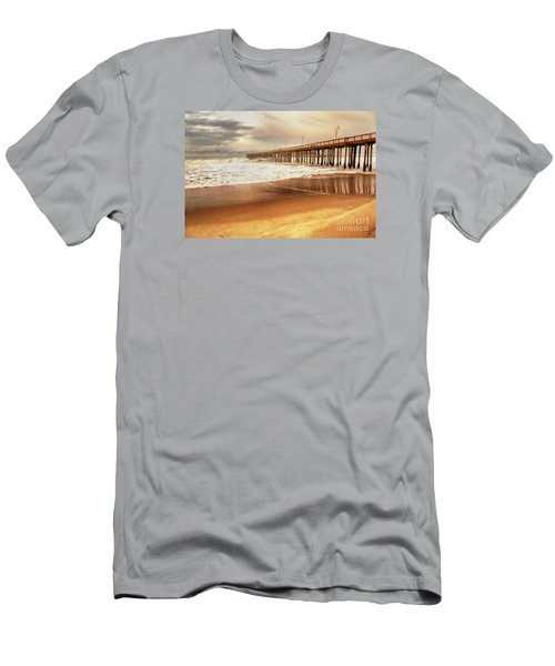 Day At The Pier Large Canvas Art, Canvas Print, Large Art, Large Wall Decor, Home Decor, Photograph Men's T-Shirt (Slim Fit) by David Millenheft