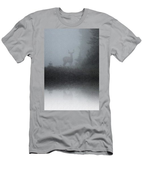 Deer Reflecting Men's T-Shirt (Athletic Fit)