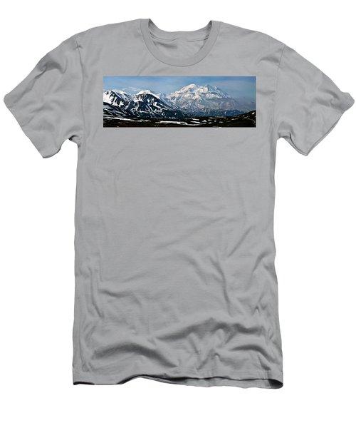 Men's T-Shirt (Slim Fit) featuring the photograph Denali National Park Panorama by John Haldane