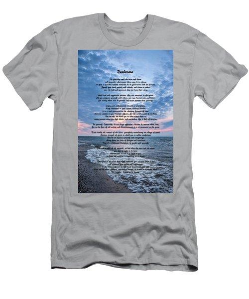 Desiderata Wisdom Men's T-Shirt (Athletic Fit)