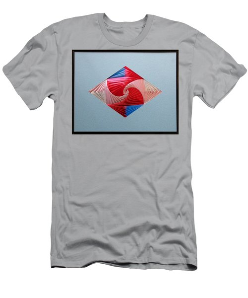 Men's T-Shirt (Slim Fit) featuring the mixed media Diamond Design by Ron Davidson
