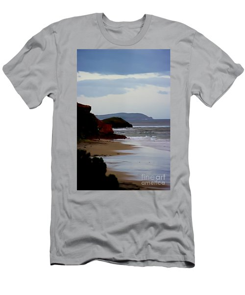Digital Painting Of Smiths Beach Men's T-Shirt (Athletic Fit)
