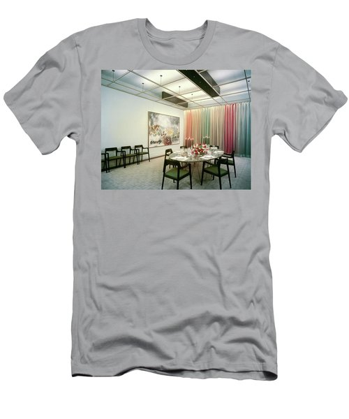 Dining Room In Mr. And Mrs. Williams A.m Men's T-Shirt (Athletic Fit)