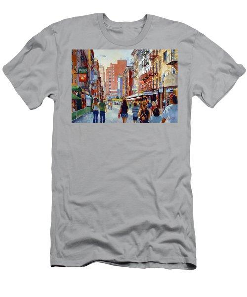 Dinner In Little Italy Men's T-Shirt (Athletic Fit)