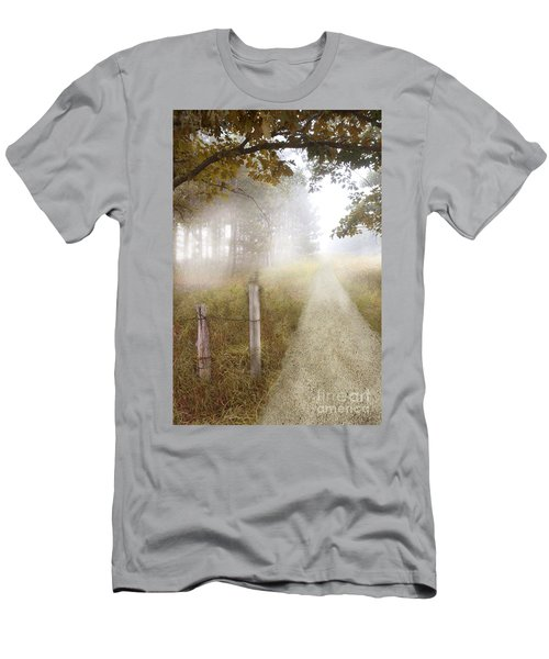 Dirt Road In Fog Men's T-Shirt (Athletic Fit)