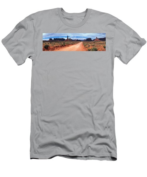 Dirt Road Through Desert Landscape Men's T-Shirt (Athletic Fit)