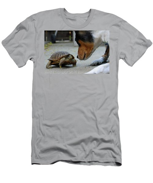Dog And Turtle Men's T-Shirt (Athletic Fit)