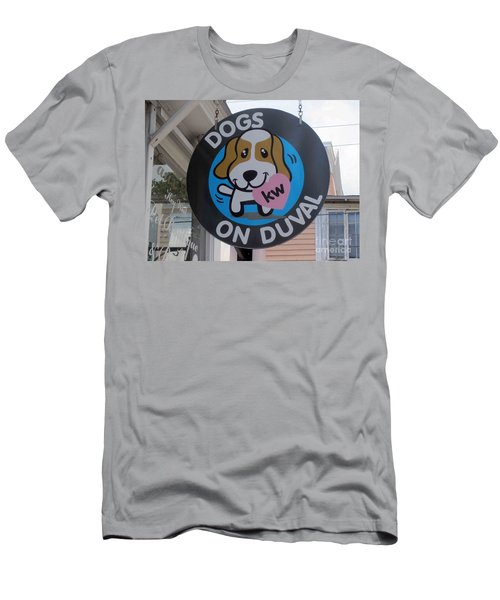 Dogs On Duval Men's T-Shirt (Slim Fit) by Fiona Kennard