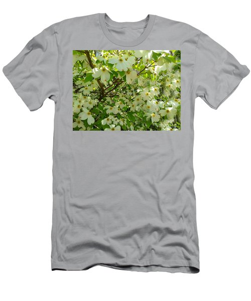 Men's T-Shirt (Slim Fit) featuring the photograph Dogwood Kissed By The Sun by Becky Lupe