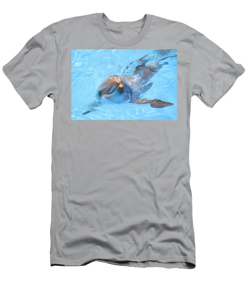Dolphin Swimming Men's T-Shirt (Athletic Fit)