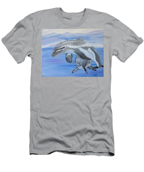 Sublime Dolphins Men's T-Shirt (Slim Fit) by Meryl Goudey
