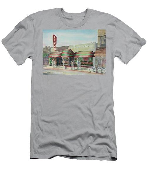 Domenicos In Long Beach Men's T-Shirt (Slim Fit) by Debbie Lewis