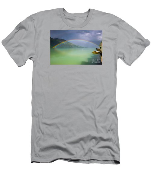 Double Rainbow Men's T-Shirt (Slim Fit) by IPics Photography