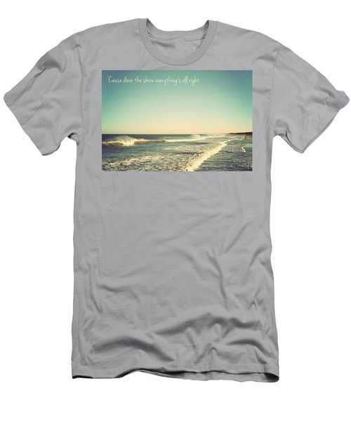 Down The Shore Seaside Heights Vintage Quote Men's T-Shirt (Athletic Fit)