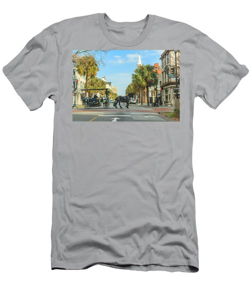 Downtown Charleston Stroll Men's T-Shirt (Athletic Fit)