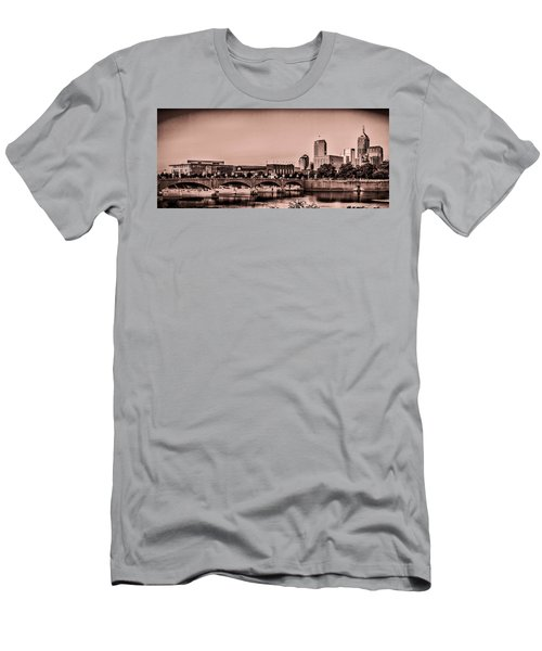 Downtown Indianapolis Men's T-Shirt (Athletic Fit)