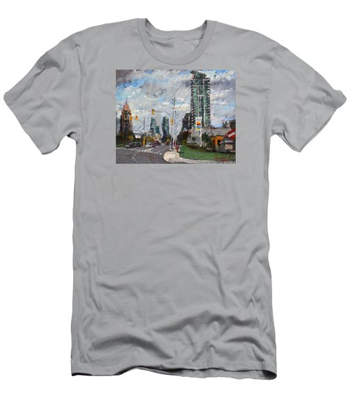Downtown Mississauga On Men's T-Shirt (Athletic Fit)