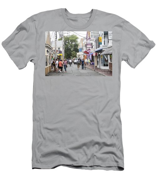Downtown Scene In Provincetown On Cape Cod In Massachusetts Men's T-Shirt (Athletic Fit)